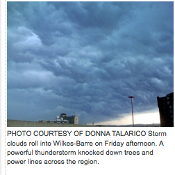 Donna Talarico storm picture Scranton Times Twitter