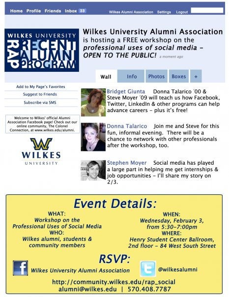 social media workshop at wilkes university